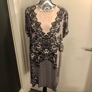 Express Lace Print Dress